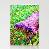 Hen On Grass Stationery Cards