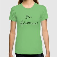 Be Adventurous Womens Fitted Tee Grass SMALL