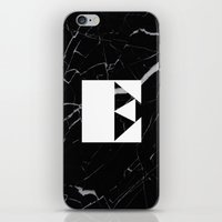 Black Marble - Alphabet E iPhone & iPod Skin