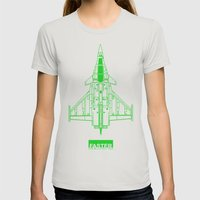 Faster   speed electronic sound Womens Fitted Tee Silver SMALL
