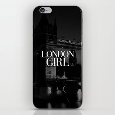 London Girl Black And Wh… iPhone & iPod Skin
