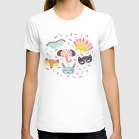 Confetti Womens Fitted Tee White SMALL