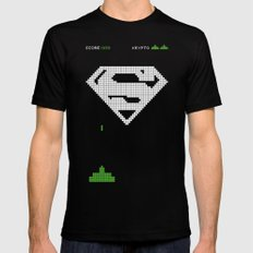 Super Invader Mens Fitted Tee Black SMALL