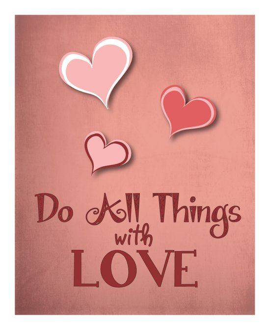 All Things with Love Canvas Print