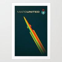 MarsUnited Rainbow Rocke… Art Print