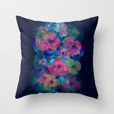 Midnight bloom Throw Pillow