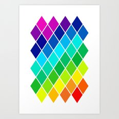 Tetrahedral Rainbow Art Print