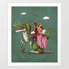 historical reconstitution Art Print