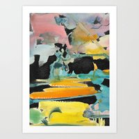 Abstract Watercolour Art Print