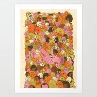 Crowd Surfer Art Print