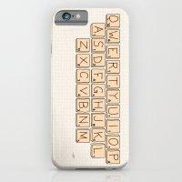 Qwerty Scrabble  iPhone 6 Slim Case