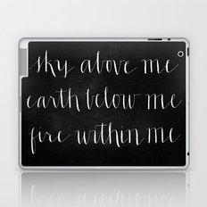 Fire Within Me // White on Black Laptop & iPad Skin