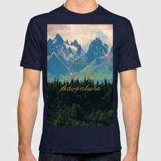 Escaping From Woodland H… Mens Fitted Tee Navy SMALL