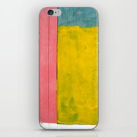 Pink + Yellow + Blue iPhone & iPod Skin
