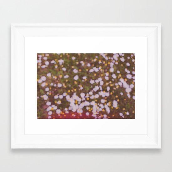 Summer brings the flowers Framed Art Print