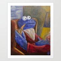Alistair Cookie Art Print