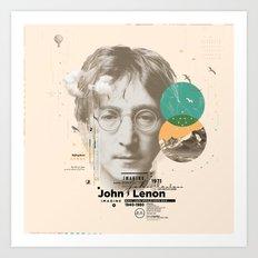 john lenon-imagine Art Print