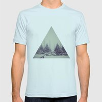 House Mens Fitted Tee Light Blue SMALL