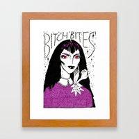 Bitch Bites! Framed Art Print