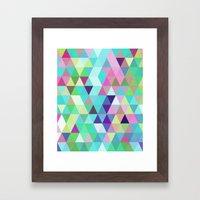 Triangle Mix #4 Framed Art Print