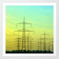 electric highway. Art Print