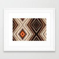 Light Patterns Framed Art Print
