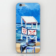 Ocean City Lifeguard Stand iPhone & iPod Skin