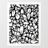 Crazy Flowers Art Print