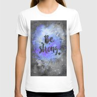 Be Strong Womens Fitted Tee White SMALL