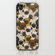 iPhone & iPod Skin featuring Social Pugz by Huebucket