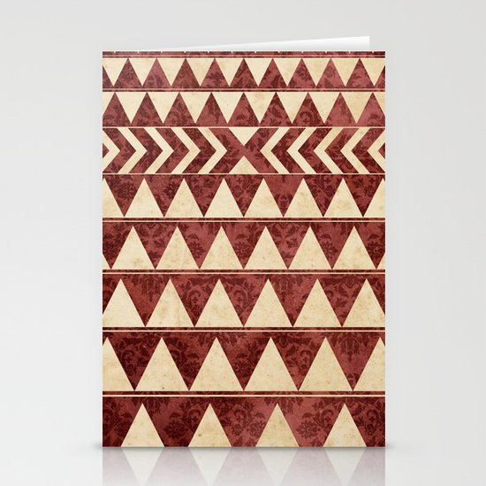 Vintage Material Triangles Stationery Card