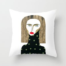 Fashion Illustration  Throw Pillow