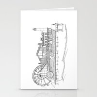 The Jersey Shore by the Downtown Doodler Stationery Cards