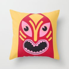 The Jolly Lucha Throw Pillow