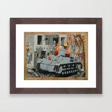 Burning Panzer IV Framed Art Print