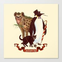 At the Arkham Zoo Canvas Print