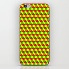 Cubed - Rasta iPhone & iPod Skin