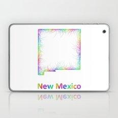 Rainbow New Mexico map Laptop & iPad Skin