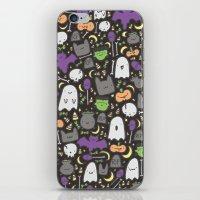 Kawaii Halloween - Black iPhone & iPod Skin