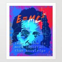 HOMAGE TO EINSTEIN Art Print