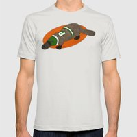 Platypus Mens Fitted Tee Silver SMALL