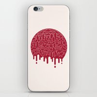 Painted Red iPhone & iPod Skin