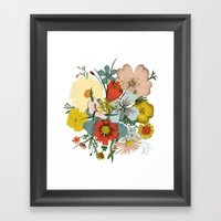 Flower Wad Framed Art Print