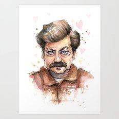 Swanson Love Valentine Portrait Art Print