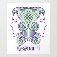 Deco Gemini Art Print