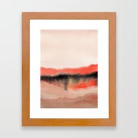 Watercolor Abstract Land… Framed Art Print