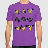 OLYMPIC LIFTING PUGS Mens Fitted Tee Ultraviolet SMALL