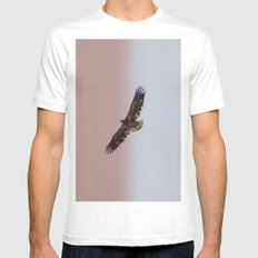 Golden Eagle SMALL White Mens Fitted Tee