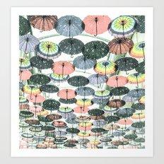 It may rain Art Print