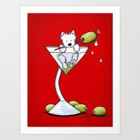 KiniArt Westie Martini Art Print
